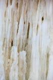 Vinterlandskap. Slut upp istappar för isbildande som bakgrund Arkivbild