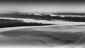 Vinterlandskap Victory Park Arkivfoto