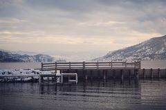 Vinterlandskapskeppsdocka Arkivbild