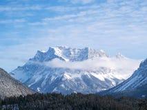 VinterlandskapZugspitze Tyskland Arkivfoto
