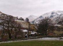 Vinterlantgård i England Arkivfoto