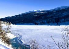 Vinterliggande i Norge Arkivbilder