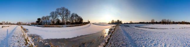 Vinterliggandepanorama arkivfoton