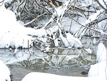 Vinterliten vik Fotografering för Bildbyråer