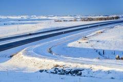 Vinterlopp i Colorado Royaltyfria Bilder