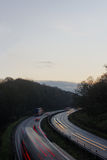 Vinterlopp med bilen Royaltyfri Fotografi