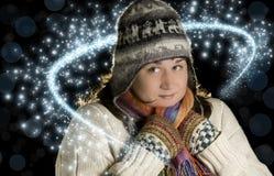Vintermagi Arkivfoton