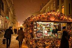 Vintermarknad Fotografering för Bildbyråer
