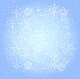 Vintermodell av snöflingor royaltyfri illustrationer