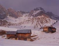 Vintermorgon på Fuciade Royaltyfri Fotografi