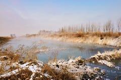Vintermorgonen arkivbild