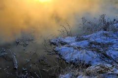 Vintermorgonen arkivbilder