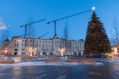 VinterMoskva för jul och nytt år royaltyfri bild