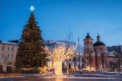 VinterMoskva för jul och nytt år royaltyfri foto