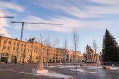 VinterMoskva för jul och nytt år royaltyfria foton
