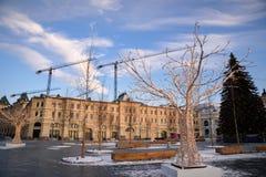 VinterMoskva för jul och nytt år arkivfoto