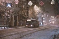 Vintern är kommande arkivfoto