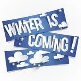 Vintern är kommande Royaltyfria Bilder