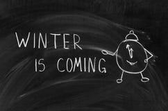 Vintern är kommande Royaltyfria Foton