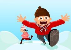 Vintern är kommande Royaltyfri Fotografi