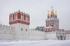 Novodevichy kloster i Moscow Arkivbild