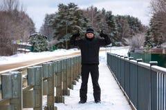 Vintern går i Ryssland Arkivbilder