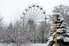 Vintern i staden parkerar Royaltyfri Fotografi