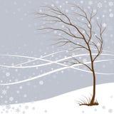 Vintern kommer Vektor Illustrationer