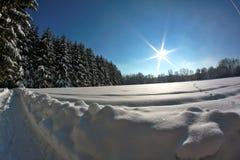 Vintern landskap Royaltyfri Fotografi