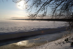 Vintern landskap. arkivfoto
