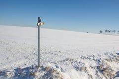 Vintern landskap i bavaria fotografering för bildbyråer