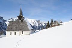 Vintern landskap på Engelberg Royaltyfria Foton