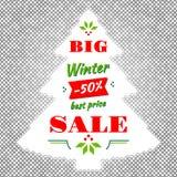 Vintern och den stora Sale för jul vektorn gör sammandrag bakgrund Arkivfoto