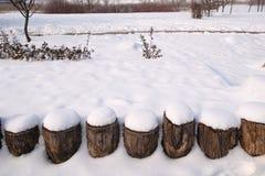 Vintern parkerar Fotografering för Bildbyråer
