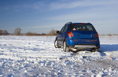 Vintern reser Fotografering för Bildbyråer