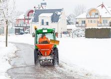 Vintern servar medlet Arkivbilder