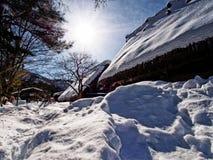 Vintern Shirakawa-går in Royaltyfri Fotografi