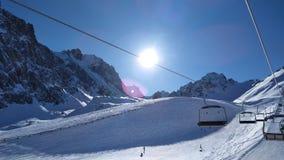 Vintern skidar Fotografering för Bildbyråer
