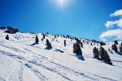 Vintern skidar reasort Arkivfoton
