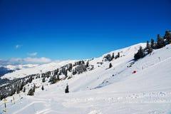 Vintern skidar reasort Arkivfoto