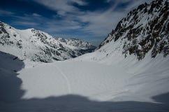 Vintern vilar är i berg Royaltyfri Foto