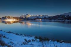 Vinternatt i Abruzzo Royaltyfri Bild