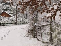 Vinternedgångar på Perigueaux Arkivfoto
