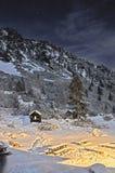 Vinternightscape Arkivbilder