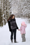Vinterpark Royaltyfri Bild
