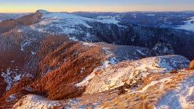 Vinterplats i det Ceahlau berget Royaltyfri Foto
