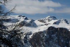 Vinterplats i Dolomites, Italien fotografering för bildbyråer