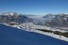 Vinterplats i St Gallen Canton Royaltyfria Bilder