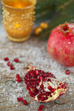 Vinterpomegranate Arkivbild