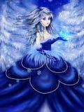 Vinterprinsessa vektor illustrationer